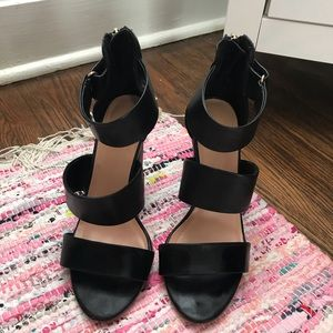 Shoes - strappy block heels